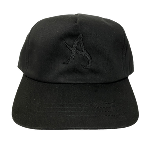 A Logo Unstructured 5-Panel Hat - Black