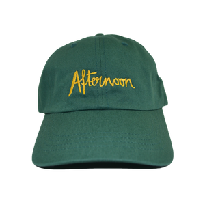 Jagged Script Dad Hat - Green