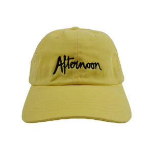 Jagged Script Dad Hat - Yellow