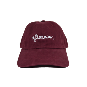Script Dad Hat - Burgundy