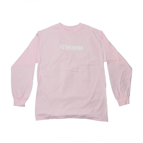 Typewriter Long Sleeve- Pink