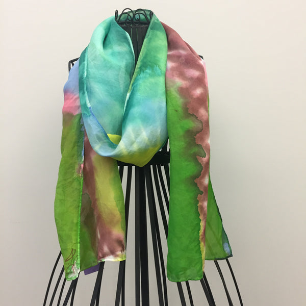 """Arizona Summer Evening"" Silk Scarf by Laurie Jarrett"