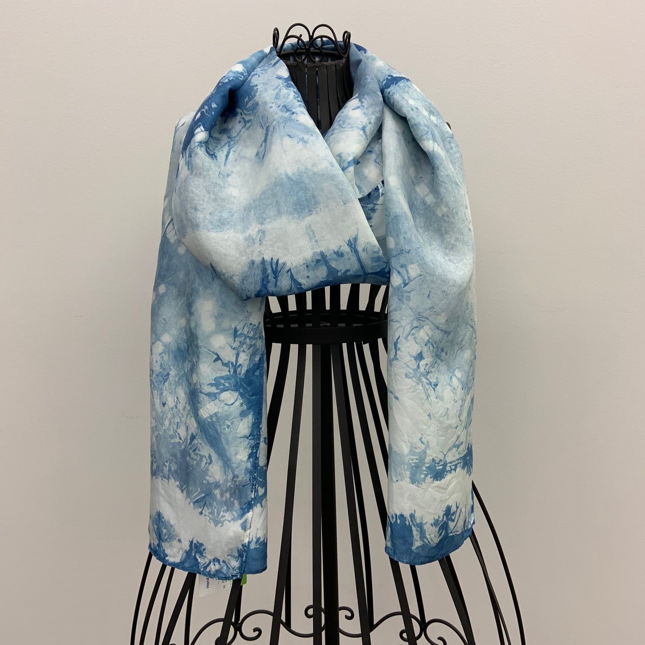 """Stripes of Blue"" Silk Scarf by Kelli Bringle"