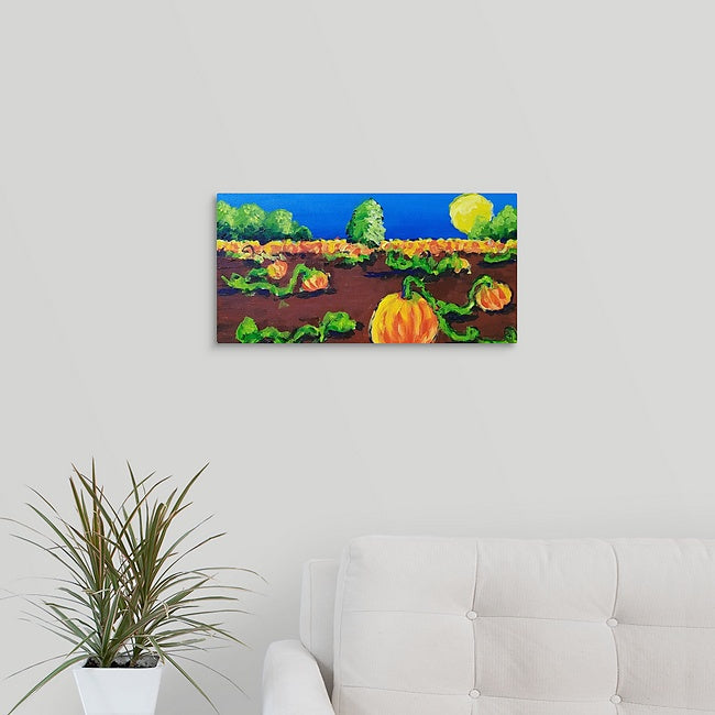 """The Pumpkin Patch"" Original Painting by Stephanie Drews"