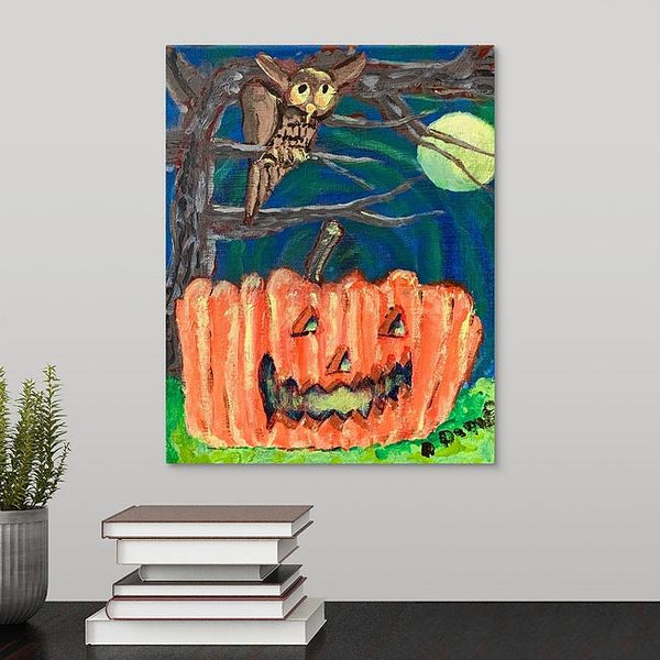 """A Pumpkin"" Original Painting by Dennis Blick"