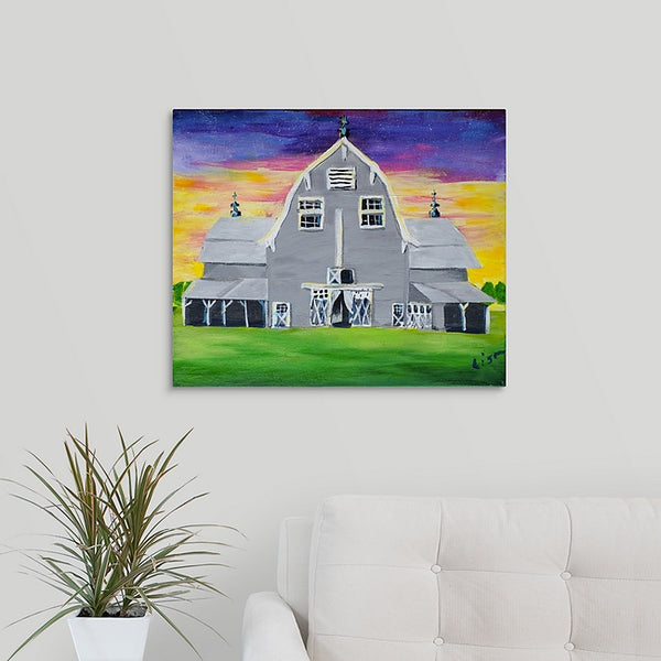"""Alyssa & Kyle's Sweet Collingwood Barn"" Print by Lisa DeVault"