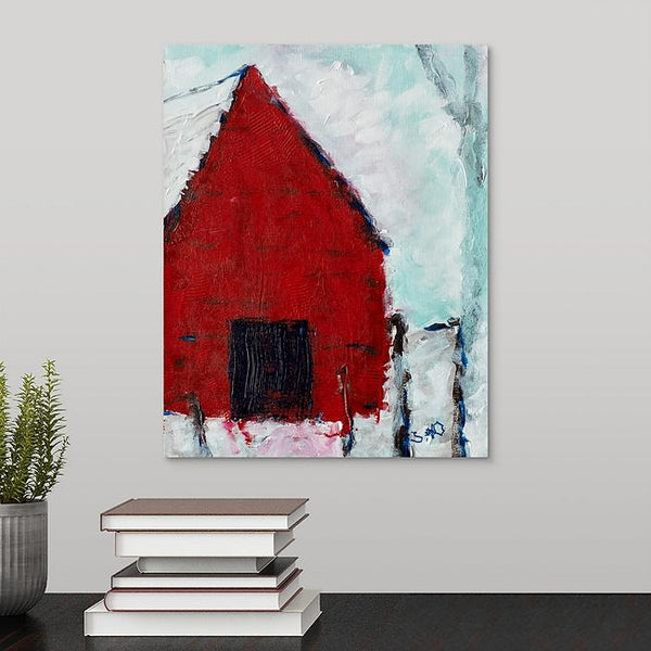 """Barn for the Animals"" Print by Stephanie Drews"