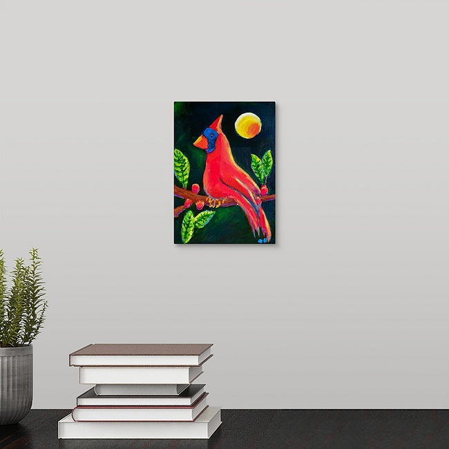 """Beautiful Red Cardinal"" Mini Print by Natalie Hopkins"