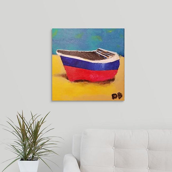 """Boat on the Sand"" Original Painting by Dennis Blick"