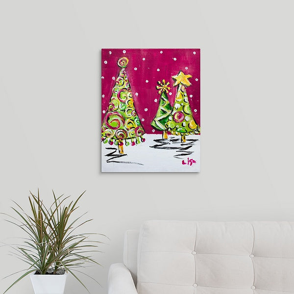 """Christmas Tree Swirl"" Print by Lisa DeVault"