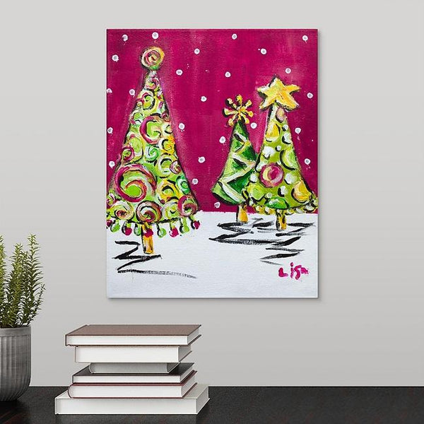 """Christmas Tree Swirl"" Original Painting by Lisa DeVault"