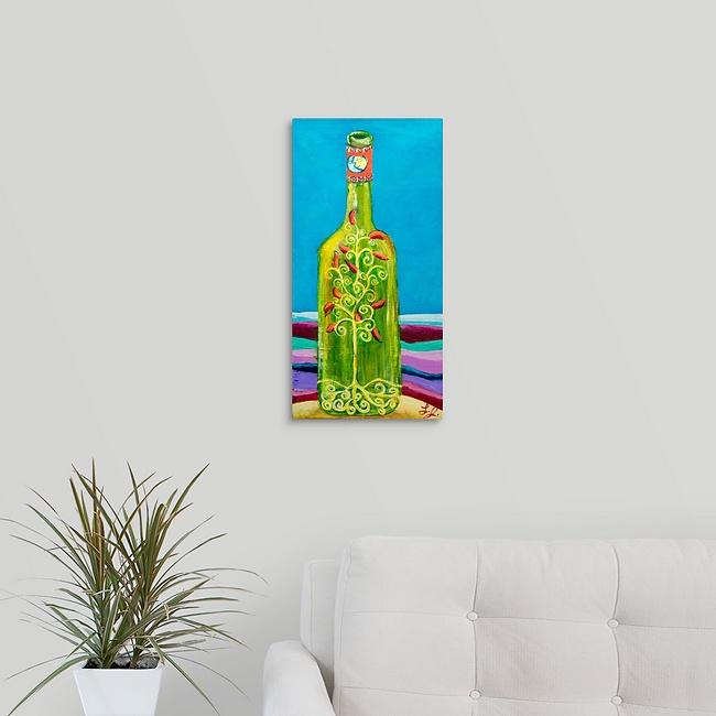 """Cooking Wine Bottle"" Original Painting by Laurie Jarrett"