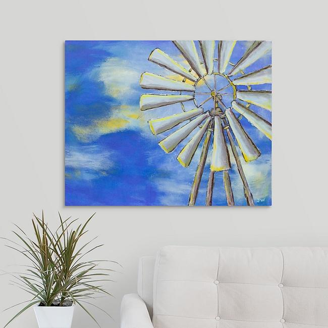 """Country Windmill"" Print by Jennifer Walton"