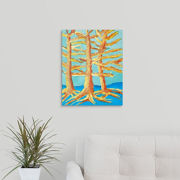 """Dennis's Trees"" Original Painting by Dennis Blick"