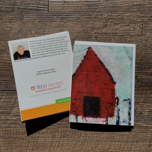 """Barn for the Animals"" Card by Stephanie Drews"