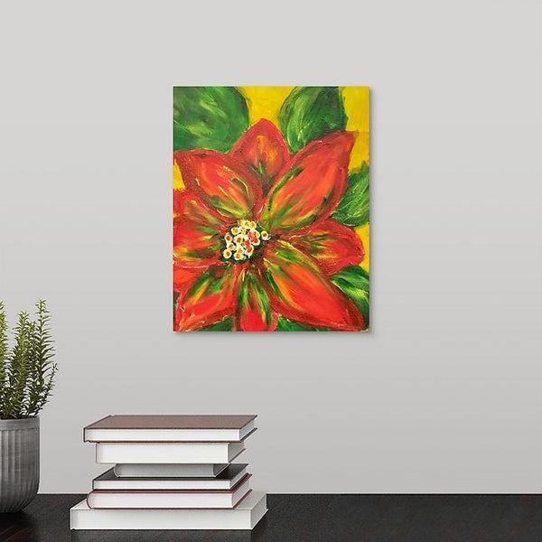 """Ella's Poinsettia"" Print by Aleen Bell"