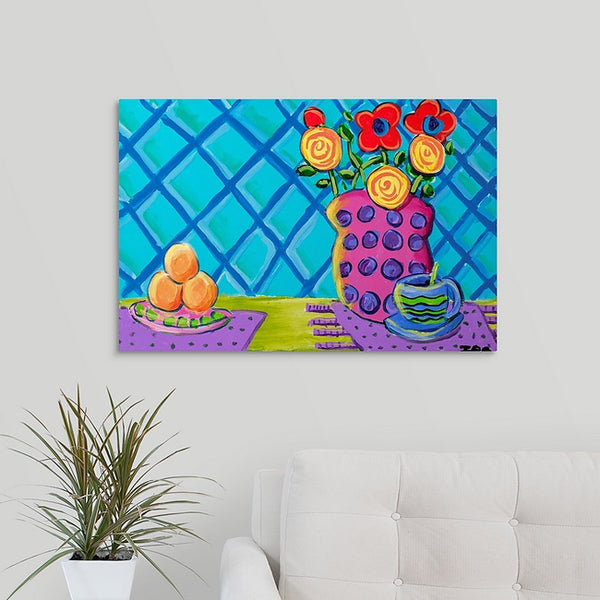 """Flowers with Grapefruit"" Print by Inez Vieyra"