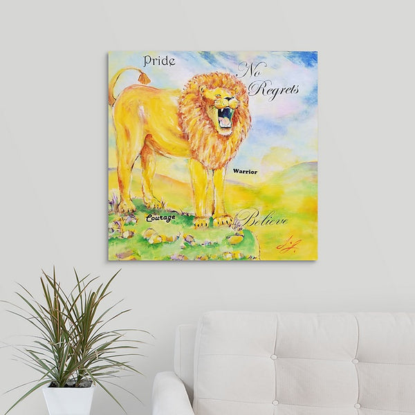 """Goliath the Lion"" Original Painting by Laurie Jarrett"