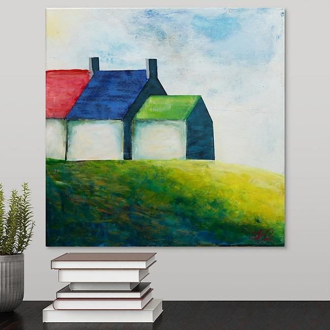 """Irish Cottages"" Print by Laurie Jarrett"