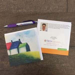 """Irish Cottages"" Cards by Laurie Jarrett"