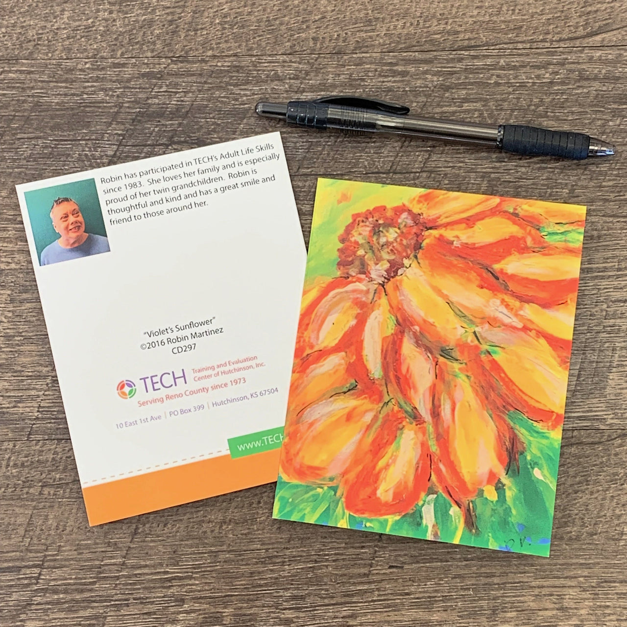 """Violet's Sunflower"" Card by Robin Martinez"