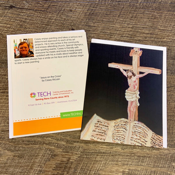 """Jesus on the Cross"" Cards by Casey McLain"