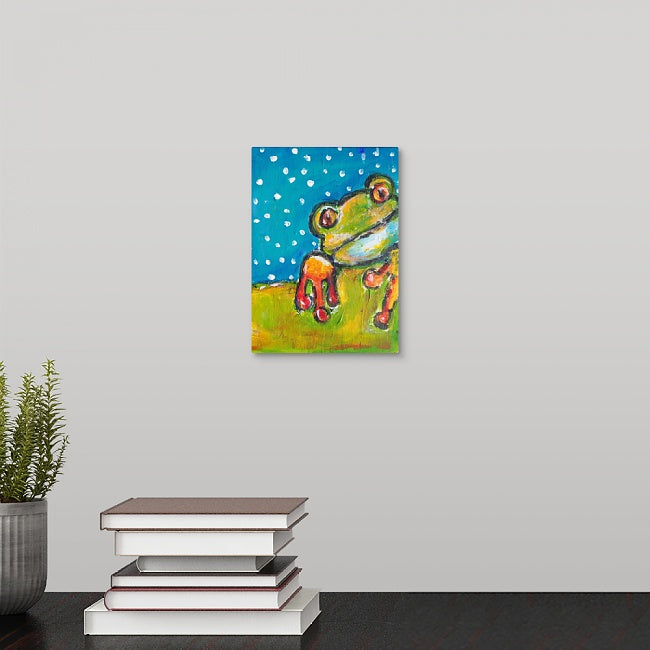 """Mr. Frog"" Mini Print by Dana Conner"