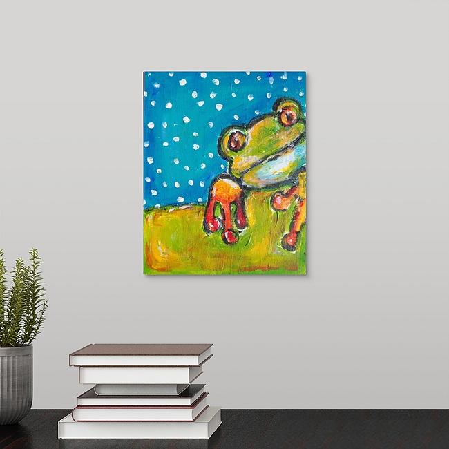 """Mr. Frog"" Print by Dana Conner"