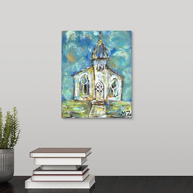 """Old Church on the Hill"" Print by Michelle Zahn"