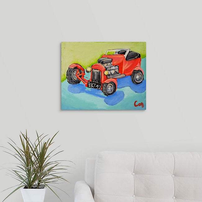 """Old Hot Rod"" Original Painting by Casey McLain"
