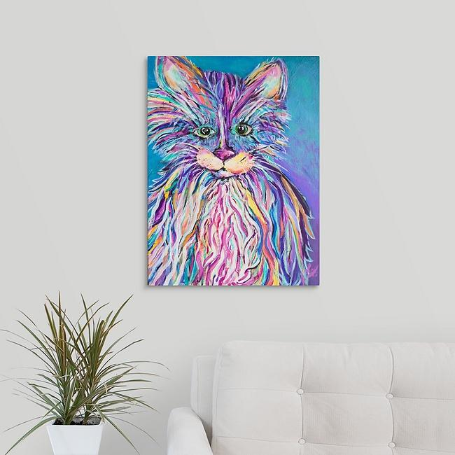 """Phoebe the Fur Baby"" Print by Laurie Jarrett"