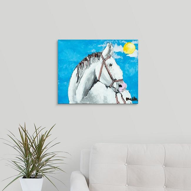 """Roger the Horse"" Print by Dee Hermes"