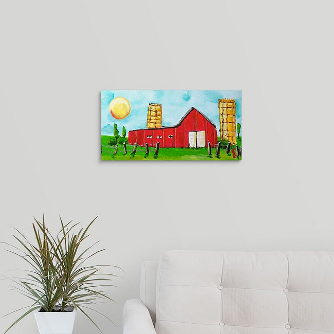 """Stan's Big Red Barn"" Original Painting by Stan Balman"