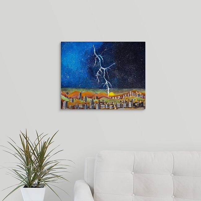 """Sunset in Lawrence with Lightning"" Print by Casey McLain"