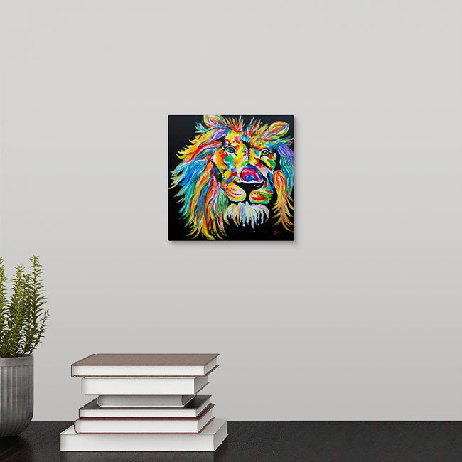 """The Rainbow Lion"" Mini Print by Jerimiah Tolbert"