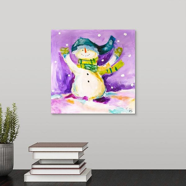 """Christmas Snow Woman"" Print by Kelli Bringle"