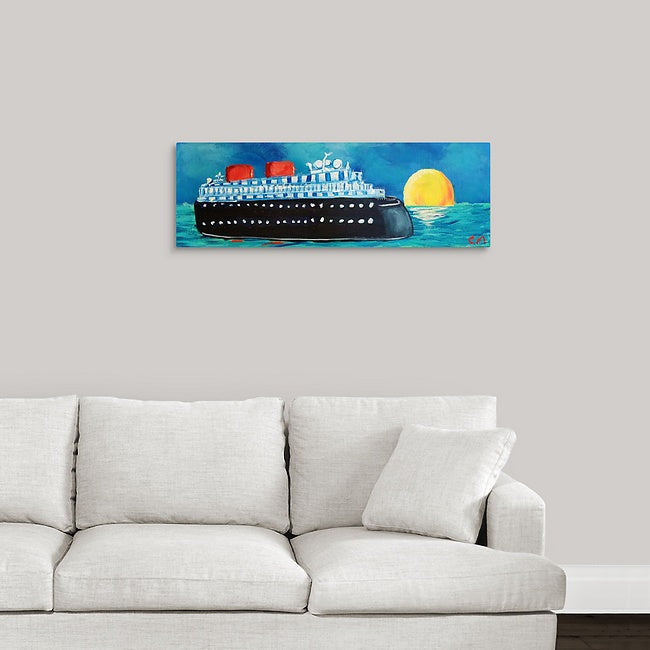 """Cruise Ship"" Original Painting by Casey McLain"