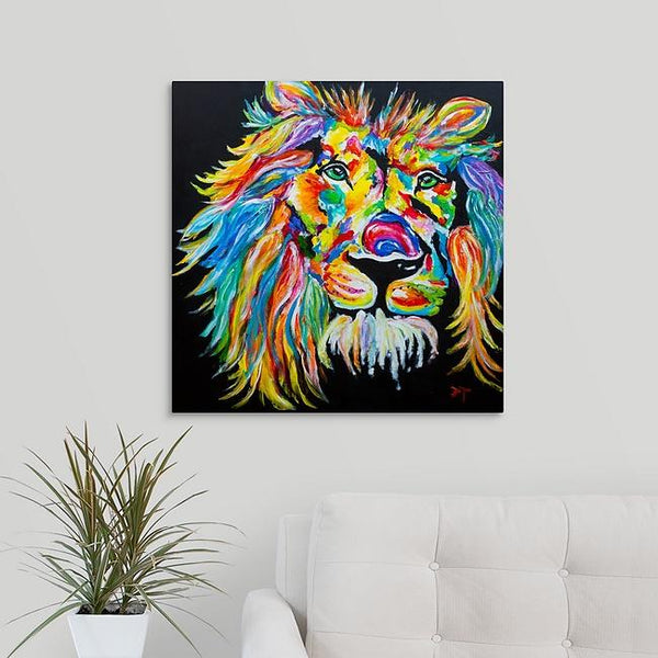 """The Rainbow Lion"" Print by Jerimiah Tolbert"