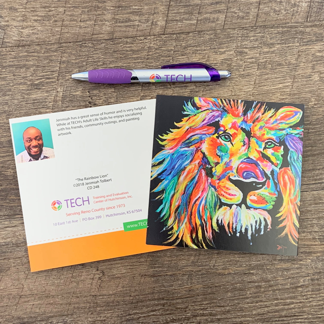 """The Rainbow Lion"" Card by Jerimiah Tolbert"