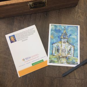 """Old Church on the Hill"" Card by Michelle Zahn"