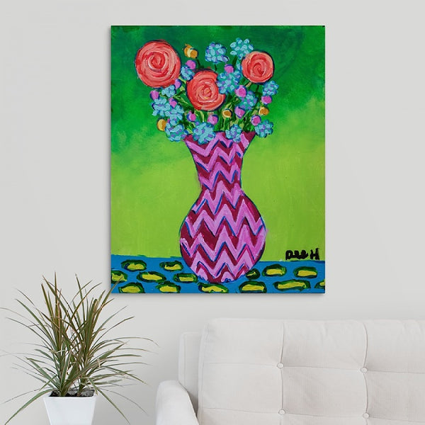 """Easter Flowers"" Original Painting by Dee Hermes"