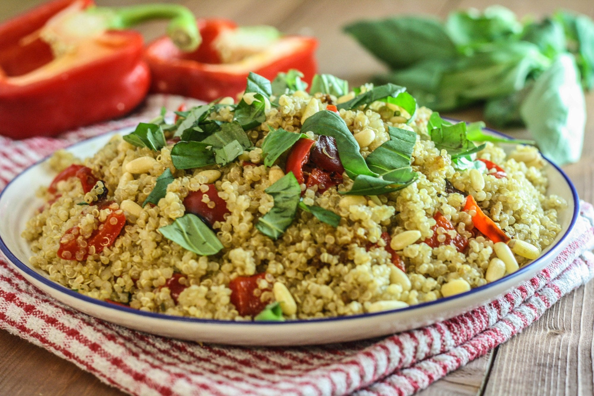 Quinoa with Roasted Red Peppers