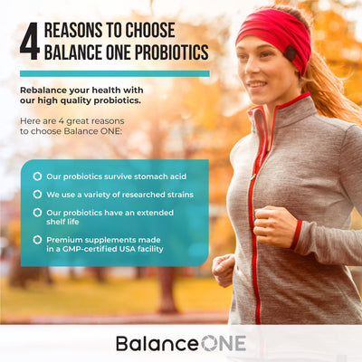 Reasons to choose Balance One probiotics