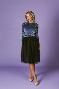 Dress with Removable Tull skirt