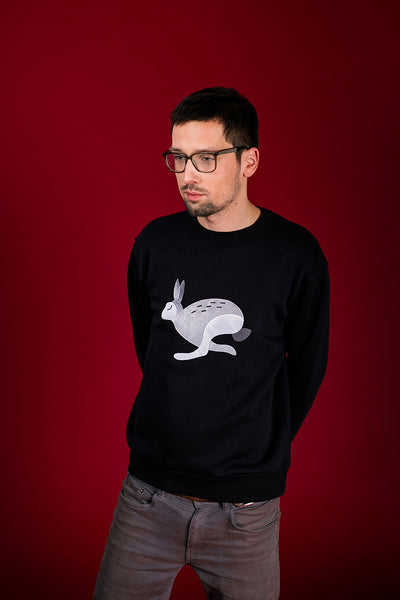 Black Jumper with Bunny / Unisex