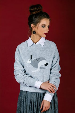 Light Gray Sweater with Bunny