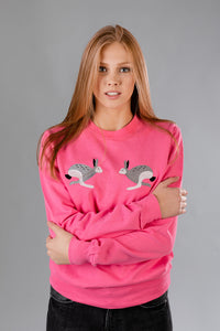 Candy Pink Sweater with Bunnies