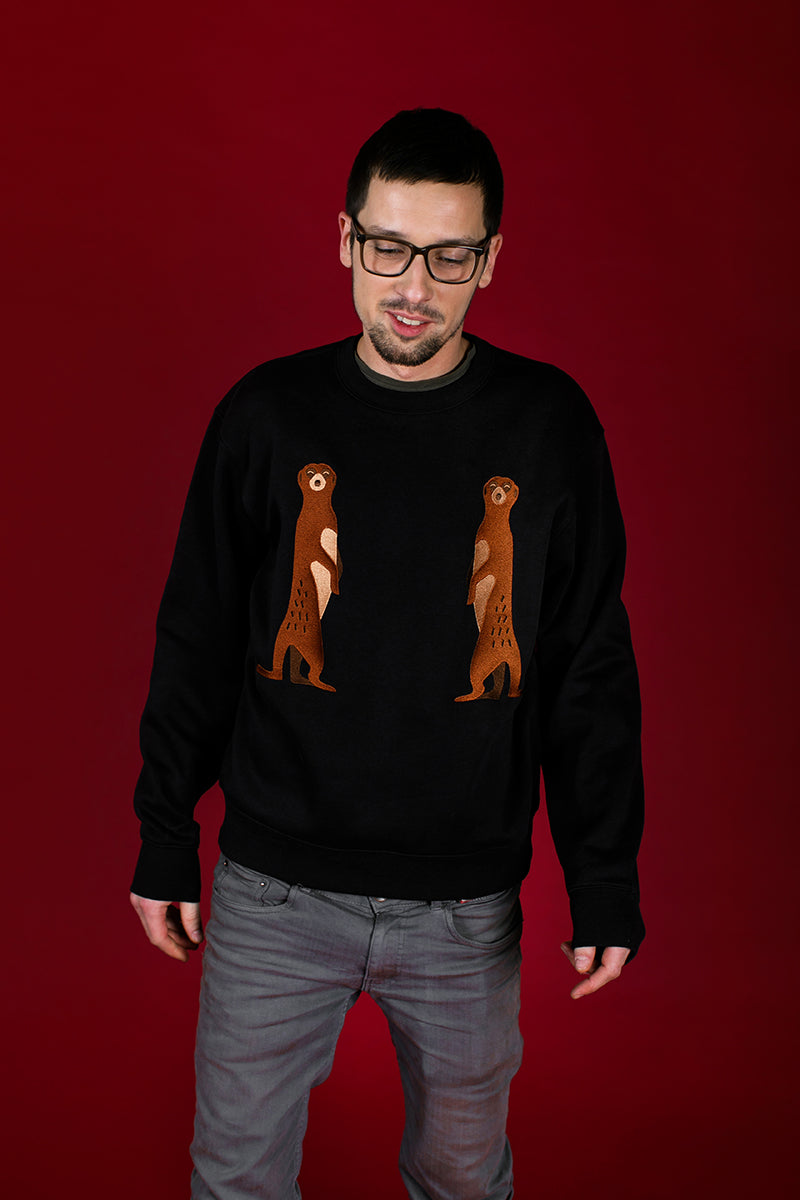 Black Jumper with Suricates/ Unisex