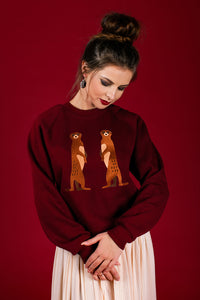 Bordo Sweater with Suricates