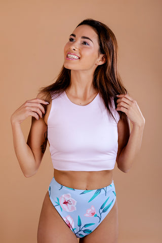 Swimsuit / Two piece /  Light Pink and Blue colour
